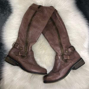 Steve Madden 'Synicle' Tall Brown Leather Boots